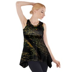 Abstract Background Side Drop Tank Tunic