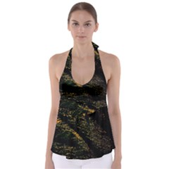 Abstract Background Babydoll Tankini Top