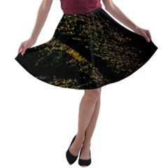Abstract Background A-line Skater Skirt