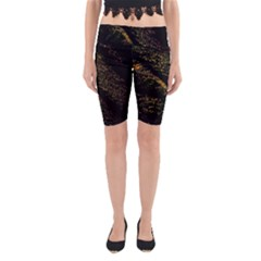 Abstract Background Yoga Cropped Leggings