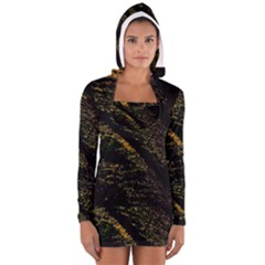 Abstract Background Women s Long Sleeve Hooded T Shirt