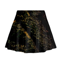 Abstract Background Mini Flare Skirt