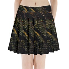 Abstract Background Pleated Mini Skirt