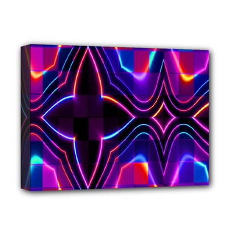 Rainbow Abstract Background Pattern Deluxe Canvas 16  x 12