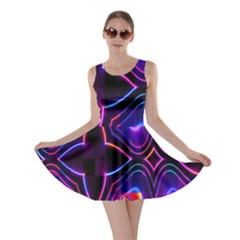 Rainbow Abstract Background Pattern Skater Dress