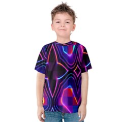 Rainbow Abstract Background Pattern Kids  Cotton Tee