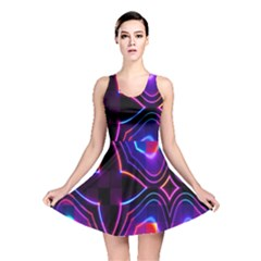 Rainbow Abstract Background Pattern Reversible Skater Dress
