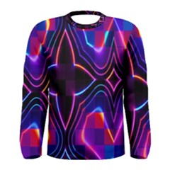 Rainbow Abstract Background Pattern Men s Long Sleeve Tee
