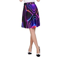 Rainbow Abstract Background Pattern A-Line Skirt