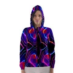 Rainbow Abstract Background Pattern Hooded Wind Breaker (Women)
