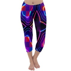 Rainbow Abstract Background Pattern Capri Winter Leggings