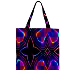 Rainbow Abstract Background Pattern Zipper Grocery Tote Bag