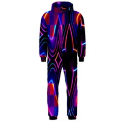 Rainbow Abstract Background Pattern Hooded Jumpsuit (Men)