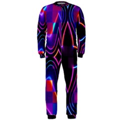 Rainbow Abstract Background Pattern OnePiece Jumpsuit (Men)