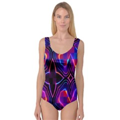 Rainbow Abstract Background Pattern Princess Tank Leotard