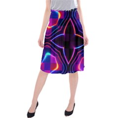 Rainbow Abstract Background Pattern Midi Beach Skirt