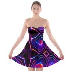 Rainbow Abstract Background Pattern Strapless Bra Top Dress