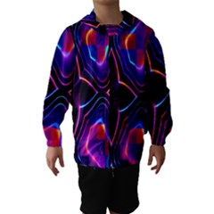 Rainbow Abstract Background Pattern Hooded Wind Breaker (kids)