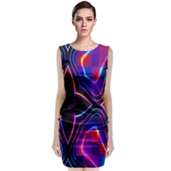 Rainbow Abstract Background Pattern Classic Sleeveless Midi Dress