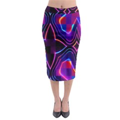 Rainbow Abstract Background Pattern Midi Pencil Skirt
