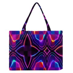 Rainbow Abstract Background Pattern Medium Zipper Tote Bag