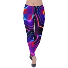 Rainbow Abstract Background Pattern Velvet Leggings