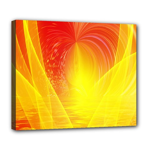 Realm Of Dreams Light Effect Abstract Background Deluxe Canvas 24  x 20