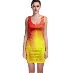 Realm Of Dreams Light Effect Abstract Background Sleeveless Bodycon Dress