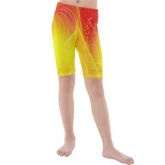 Realm Of Dreams Light Effect Abstract Background Kids  Mid Length Swim Shorts