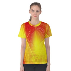 Realm Of Dreams Light Effect Abstract Background Women s Cotton Tee