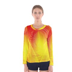 Realm Of Dreams Light Effect Abstract Background Women s Long Sleeve Tee