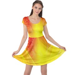 Realm Of Dreams Light Effect Abstract Background Cap Sleeve Dresses