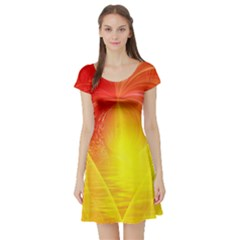 Realm Of Dreams Light Effect Abstract Background Short Sleeve Skater Dress