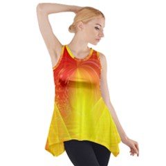 Realm Of Dreams Light Effect Abstract Background Side Drop Tank Tunic