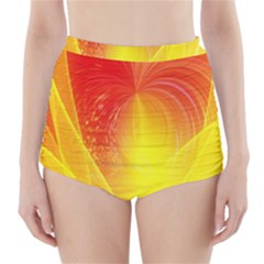 Realm Of Dreams Light Effect Abstract Background High Waisted Bikini Bottoms