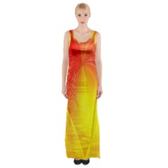 Realm Of Dreams Light Effect Abstract Background Maxi Thigh Split Dress