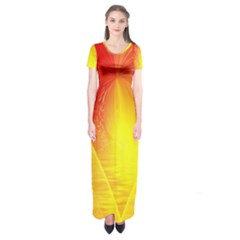 Realm Of Dreams Light Effect Abstract Background Short Sleeve Maxi Dress