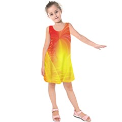 Realm Of Dreams Light Effect Abstract Background Kids  Sleeveless Dress