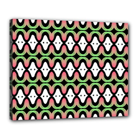 Abstract Pinocchio Journey Nose Booger Pattern Canvas 20  X 16