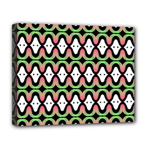 Abstract Pinocchio Journey Nose Booger Pattern Deluxe Canvas 20  x 16