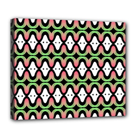 Abstract Pinocchio Journey Nose Booger Pattern Deluxe Canvas 24  x 20