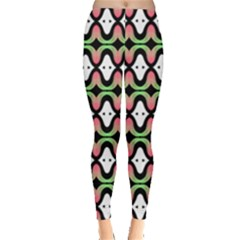 Abstract Pinocchio Journey Nose Booger Pattern Leggings