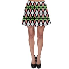 Abstract Pinocchio Journey Nose Booger Pattern Skater Skirt