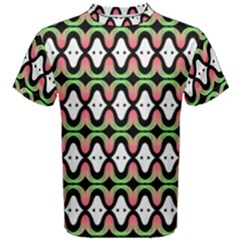 Abstract Pinocchio Journey Nose Booger Pattern Men s Cotton Tee