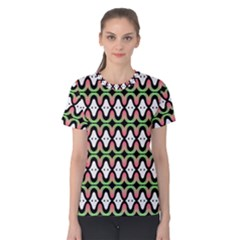 Abstract Pinocchio Journey Nose Booger Pattern Women s Cotton Tee