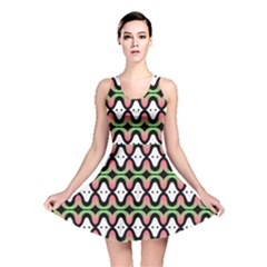 Abstract Pinocchio Journey Nose Booger Pattern Reversible Skater Dress