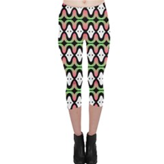 Abstract Pinocchio Journey Nose Booger Pattern Capri Leggings