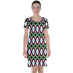 Abstract Pinocchio Journey Nose Booger Pattern Short Sleeve Nightdress