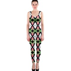 Abstract Pinocchio Journey Nose Booger Pattern OnePiece Catsuit
