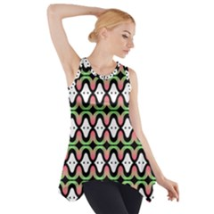 Abstract Pinocchio Journey Nose Booger Pattern Side Drop Tank Tunic